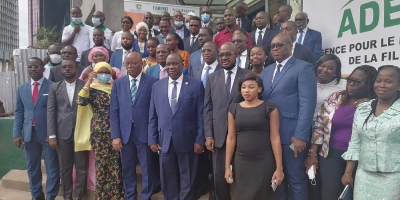 Le ministre Kobenan Adjoumani a félicité les responsables de l'Aderiz pour le travail remarquable abattu pour la filière riz. (Photo : DR)