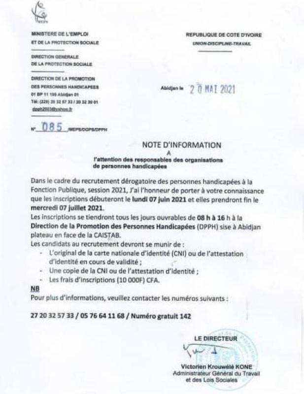 Recrutement derogatioire FP-BON