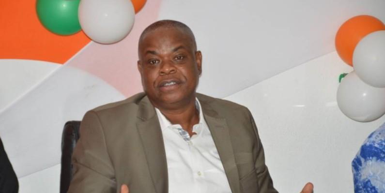 Koné Katinan préside la Commission communication du retour de Laurent Gbagbo. (Photo : Julien Monsan)