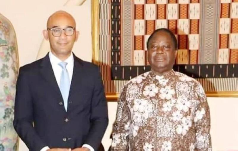 Le président du Pdci-Rda a reçu à Daoukro Michel Gbagbo, député de Yopougon. (Photo : DR)
