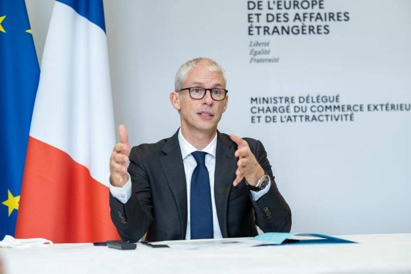 Le ministre délégué auprès du ministre de l'Europe et des Affaires étrangères, chargé du Commerce extérieur et de l'Attractivité de la France, Franck Riester