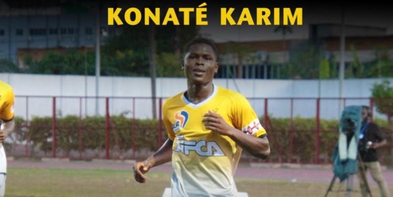 Konaté Karim, le buteur de l'Asec. (DR)