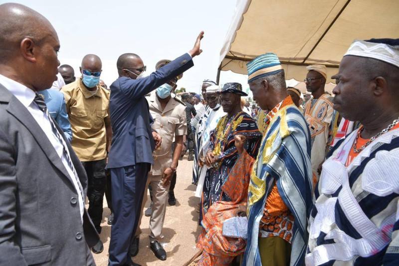 Le ministre des Transports Amadou Koné à Duékoué (DR)