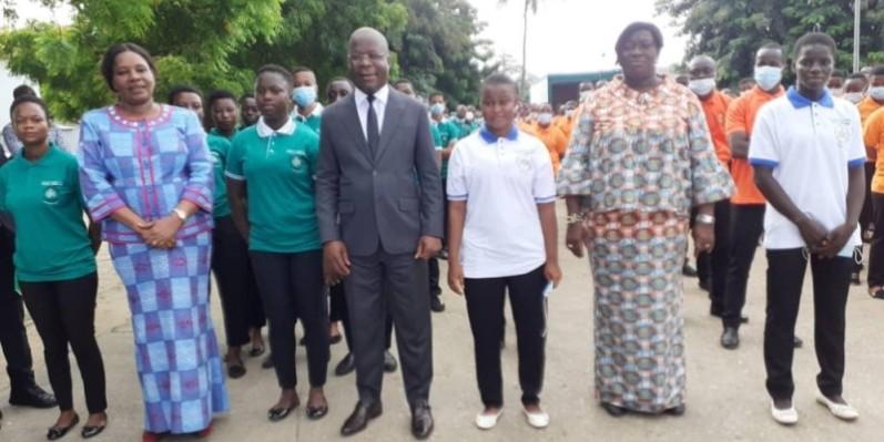 Le ministre Pierre Dimba a communié avec les étudiants de l'Infas. (Photo : DR)