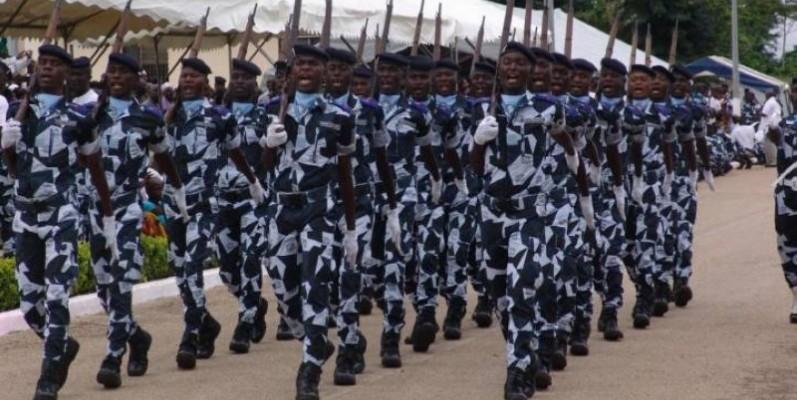 Une vue d'anciens élèves gendarmes. (DR)