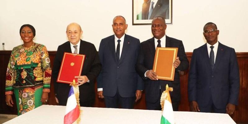 Après la signature de convention, le Chef de gouvernement s'est rendu à Jacqueville pour l'inauguration officielle de l'Académie Internationale de Lutte contre le Terrorisme.(DR)