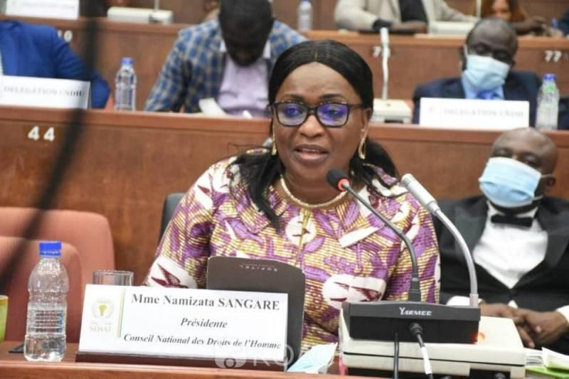 Le président du CNDH, Namizata Sangaré