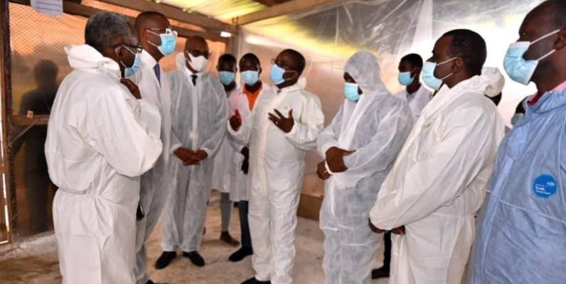 Le ministre Sidi Touré a visité la ferme expérimentale de l'Université Nangui Abrogoua.