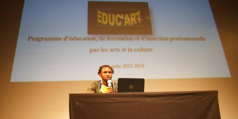 L'initiateur du projet, Toussaint N'zian, a donné les détails de ce projet Educ'art. (DR)