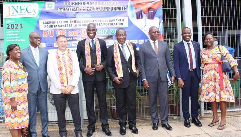 Les officiels après la cérémonie d'ouverture des Jnec 2021. (DR)