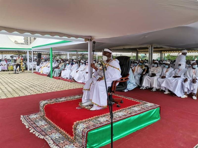 Le Cheik Aïma Ousmane Diakité, guide la communauté musulmane (DR)