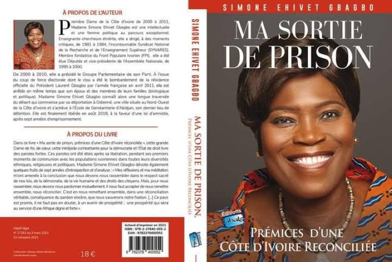 """La couverture du livre """"Ma sortie de prison: prémices d'une Côte d'Ivoire réconciliée"""". (DR)"""