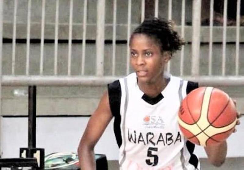 Hanna Mabelle Amani, meneuse de jeu de l'équipe senior Dames du Csa Treichville et de la sélection nationale de Côte d'Ivoire. (DR)
