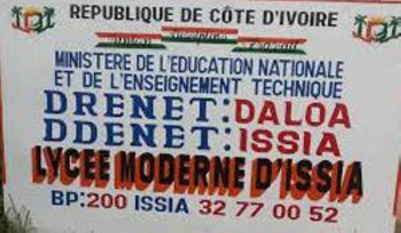 Un grand nombre d'élèves de 6e du lycée moderne d'Issia ont été exclus. (DR)