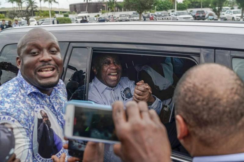 L'ancien président ivoirien Laurent Gbagbo à regagné Abidjan après son acquittement du procès intenté contre lui pour crime contre l'humanité (DR)