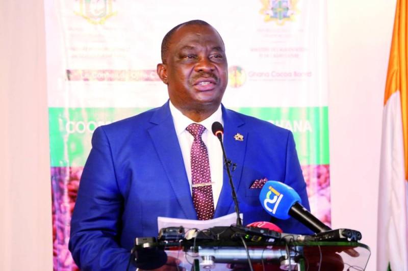Kobenan Kouassi Adjoumani, ministre d'État, ministre de l'Agriculture et du Développement rural, s'est félicité de la mise en place de l'Iccig. (Photo : Sébastien Kouassi)