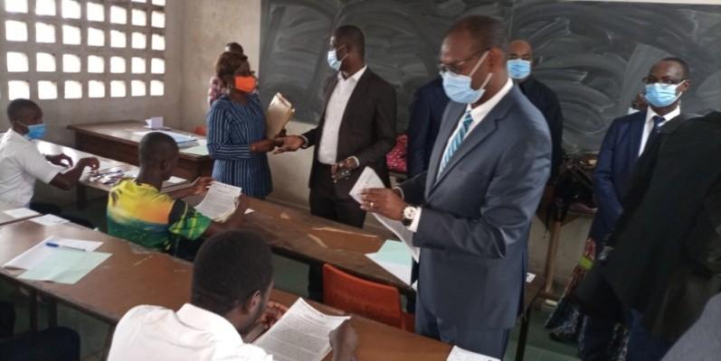 Moustapha Sangaré a appelé les candidats à tourner le dos à la tricherie. (Photo : DR)