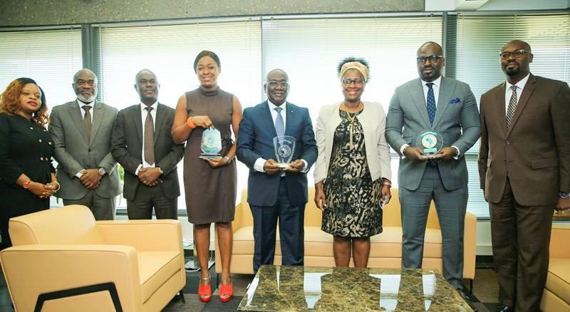 Ehui Jérôme, directeur général de Versus Bank, a félicité l'ensemble du personnel pour les prix glanés au Royaume chérifien. (DR)