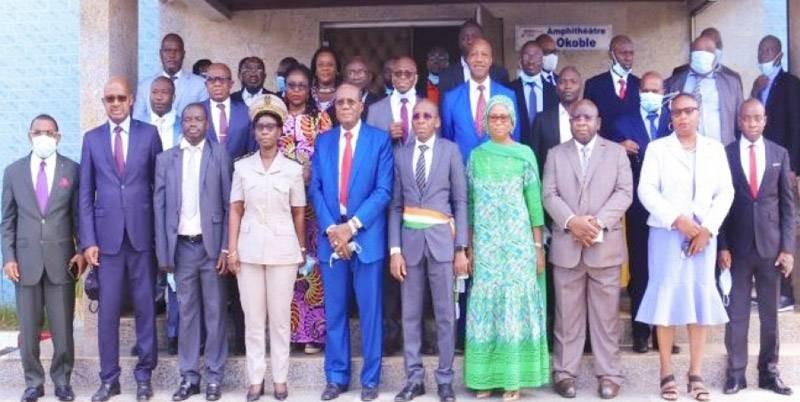 Siaka Minayaha Coulibaly, représentant le ministre de l'Agriculture, a présidé l'atelier. (Photo : DR)