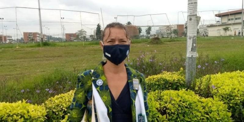 Stéphanie Baux, Coordinatrice générale de Médecins du Monde, explique le rôle joué par son organisation pour l'amélioration de la santé aux usagers de la drogue. (Edouard Koudou)