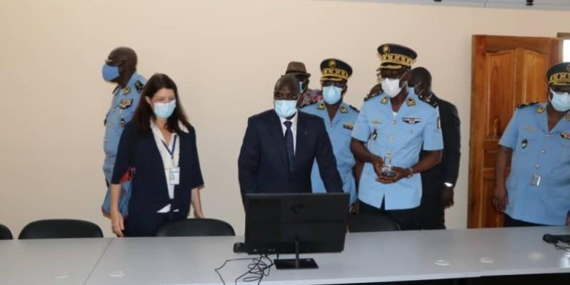 Le ministre de l'Intérieur et de la Sécurité a salué l'implication de l'Oim dans l'acquisition de la cellule de formation à la lutte contre le trafic illicite des migrants. (Photo : DR)
