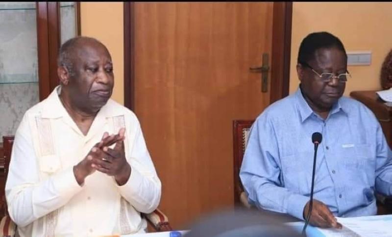Laurent Gbagbo et Henri Konan Bédié
