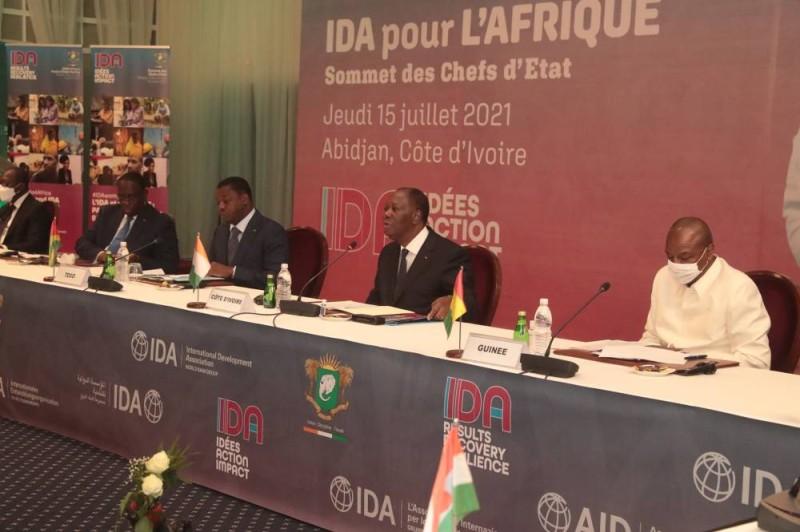Alassane Ouattara à l'ouverture de l'IDA-20