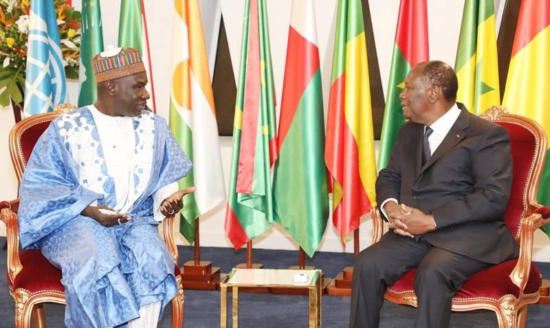 Le ministre camerounais de l'Economie, de la Planification et de l'Aménagement du territoire, Alamine Ousmane Mey, a été reçu en audience par le Président Alassane Ouattara. (DR)