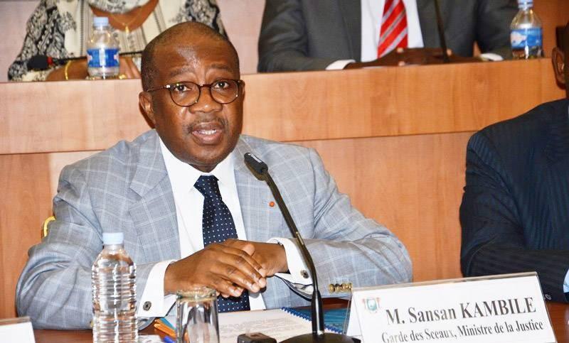 Sansan Kambilé, Garde des Sceaux, ministre de la Justice et des Droits de l'homme. (DR)