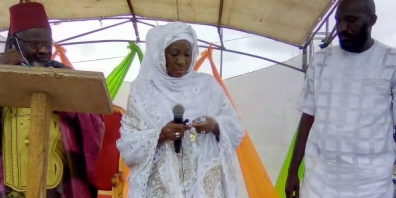 Kandia Camara appelle à la paix et à la cohésion sociale en Côte d'Ivoire. (Franck YEO)