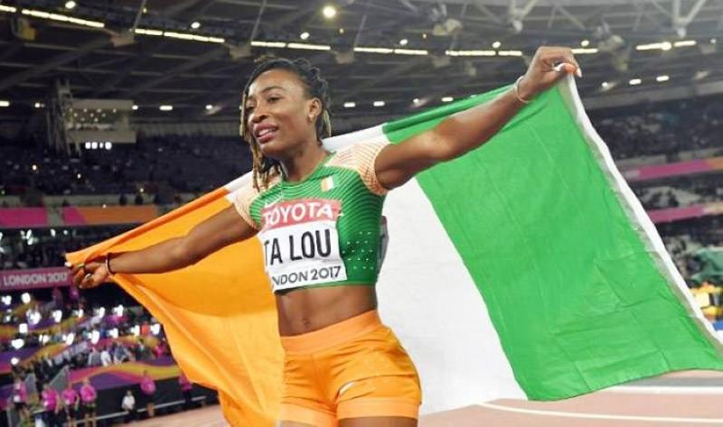 Marie-Josée Ta Lou, sprinteuse ivoirienne. (DR)