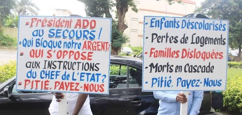 Les ex-agents ivoiriens d'Air Afrique demandent à l'Etat de payer leur argent. (DR)