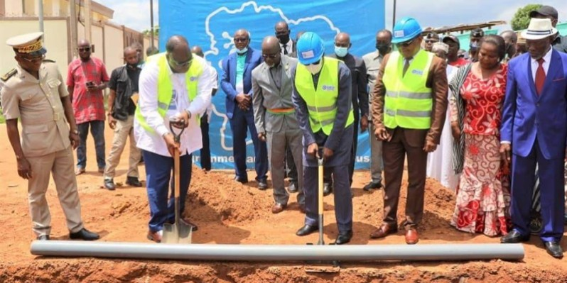 Tchagba Laurent et Adama Tounkara lancent les travaux d'extension du réseau (DR)