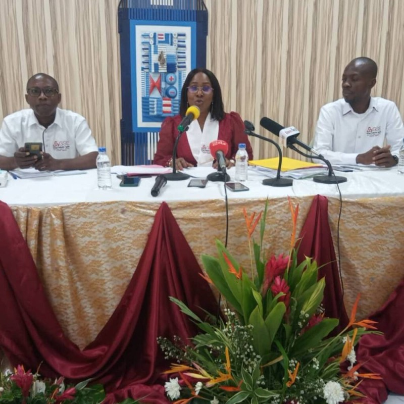 La candidate du groupe Solidarité-égalité, Dr Laurence Kamara (Bavane)