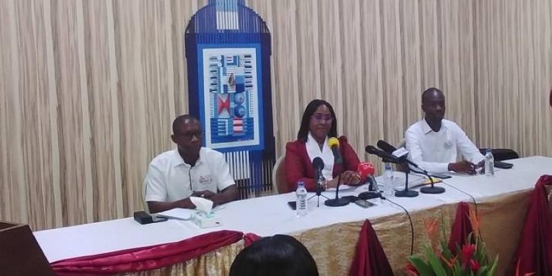 Dr Laurence Kamara (au milieu) annonce de grands chantiers dans la gestion de la Mugef-ci