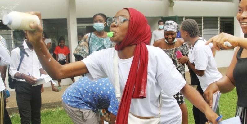 Les candidats admis savourent leur joie. (Photo : Véronique Dadié)