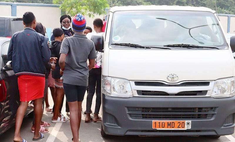 Des victimes prêtes pour regagner leurs familles respectives. (Photo : DGPN)