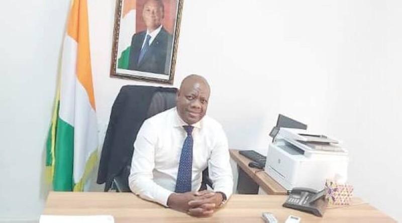Djouha Kehi Edouard, président du groupe Rhdp au Sénat. (DR)