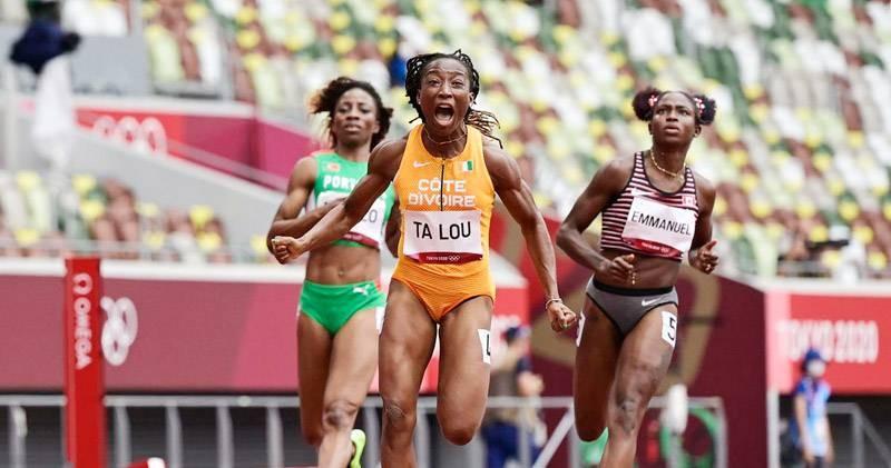 Marie-Josée Ta Lou en finale du 200 m. (DR)