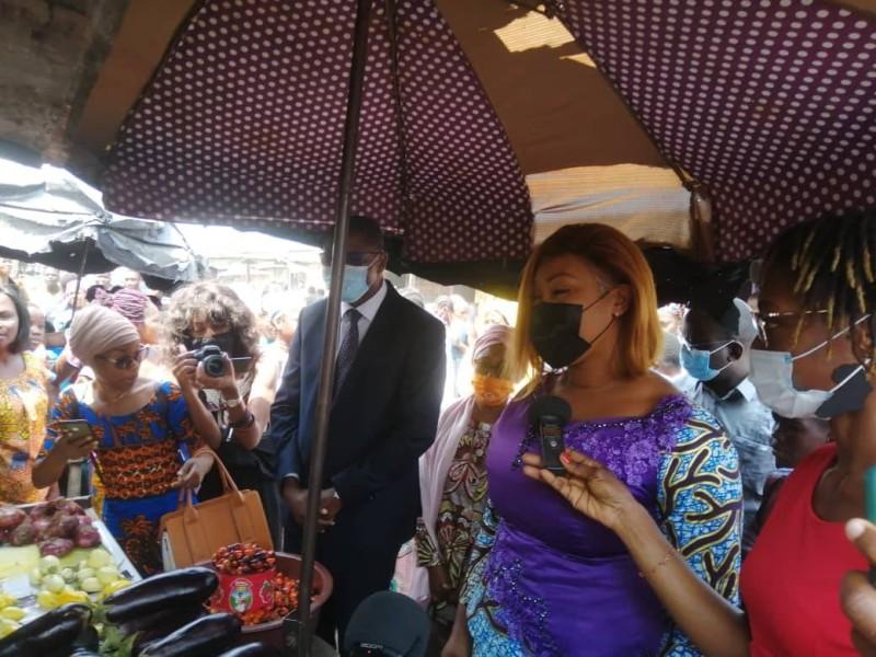 La ministre Belmonde Dogo à Koumassi campement
