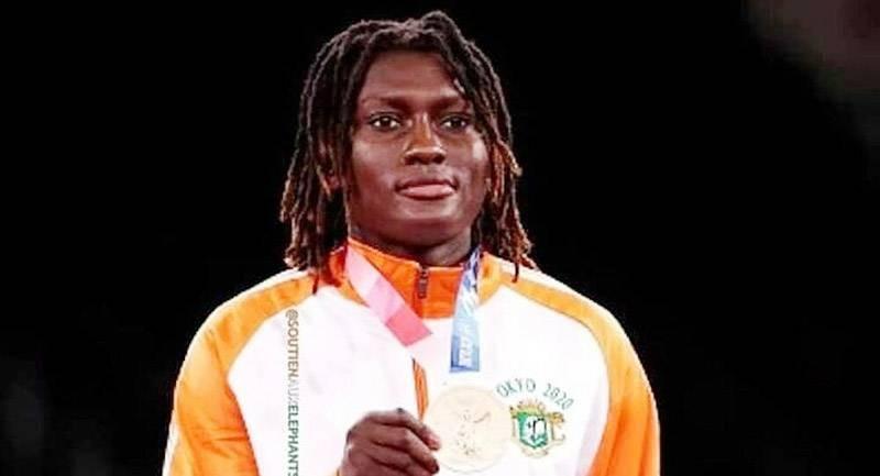 Ruth Gbagbi, taekwondo-in ivoirienne a remporté la médaille de bronze aux Jeux olympiques. (Photo : DR)