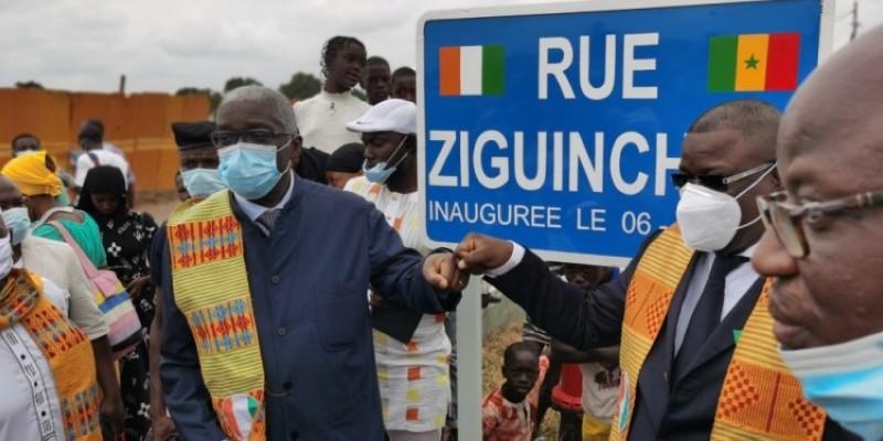 Une rue a été baptisée du nom de la ville sénégalaise de Ziguinchor. (Photo : DR)