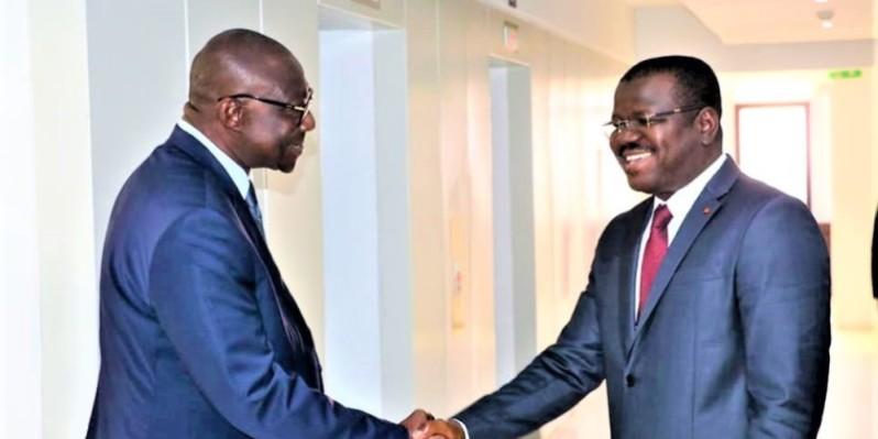 Le président du Cocan 2023 a envoyé son directeur exécutif, Moumouni Sylla (à droite), en mission d'observation à Yaoundé. (DR)