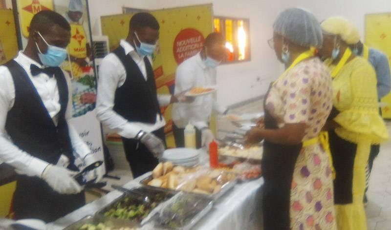 Les restauratrices ont concocté de délicieux mets avec les produits de la société. (DR)