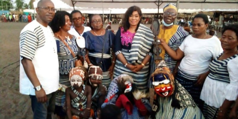 Le festiwem a été une bonne opportunité de découverte de la culture des peuples Wè. (DR)