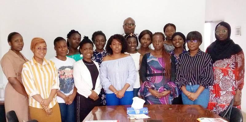 Des membres de l'association Common action for sustainable development Côte d'Ivoire, au cours d'une séance de formation. (DR)
