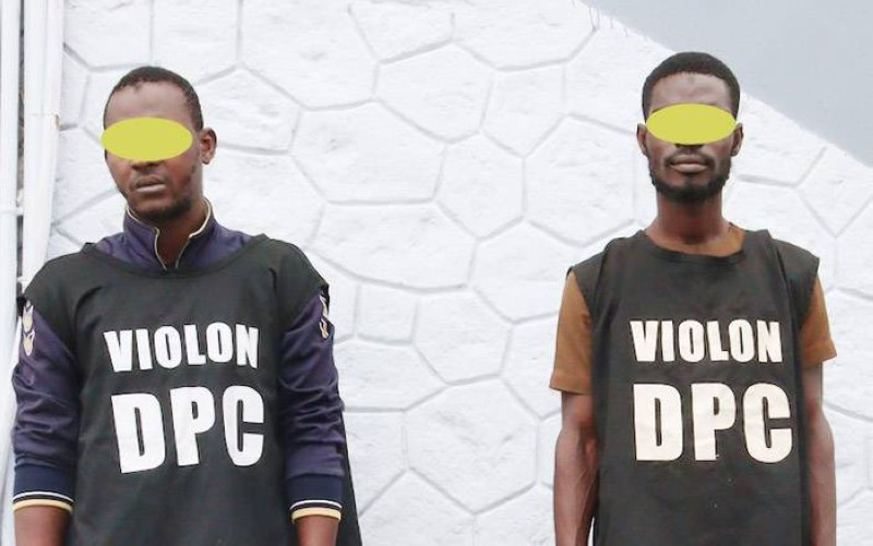 Les deux bandits ont été mis aux arrêts par la police criminelle. (Photo : DGPN)