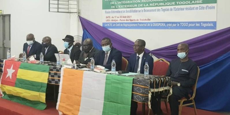 Les plus hauts responsables du Haut conseil des Togolais de l'extérieur ont échangé avec la diaspora togolaise vivant en Côte d'Ivoire (Dr)