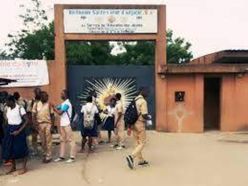 Une vue de l'entrée de l'établissement catholique Sacré Cœur. (Photo : DR)