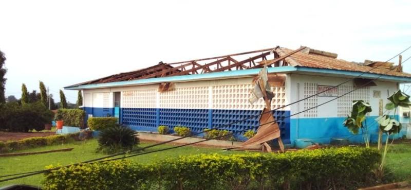 La tornade a endommagé des salles dont celle d'hospitalisation. (Photo : DR)